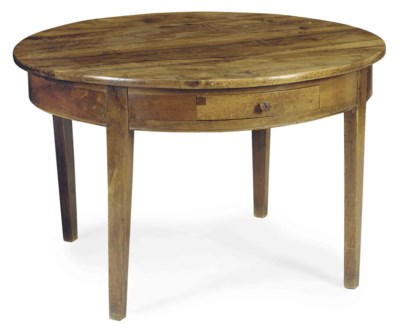 A FRENCH WALNUT CIRCULAR CENTE
