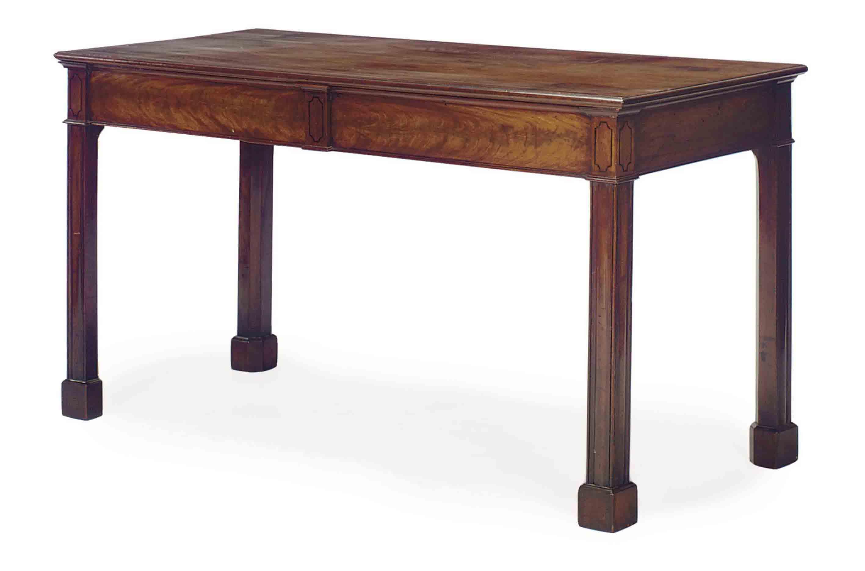 A GEORGE III MAHOGANY SIDE TABLE,