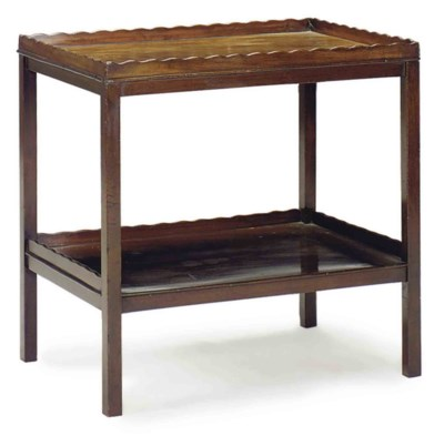 AN ENGLISH MAHOGANY TWO-TIER S