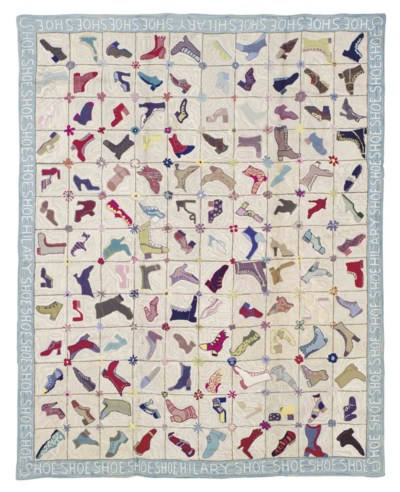 AN AMERICAN HOOKED CARPET,