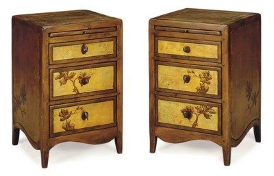 A PAIR OF FRUITWOOD AND GILT-D