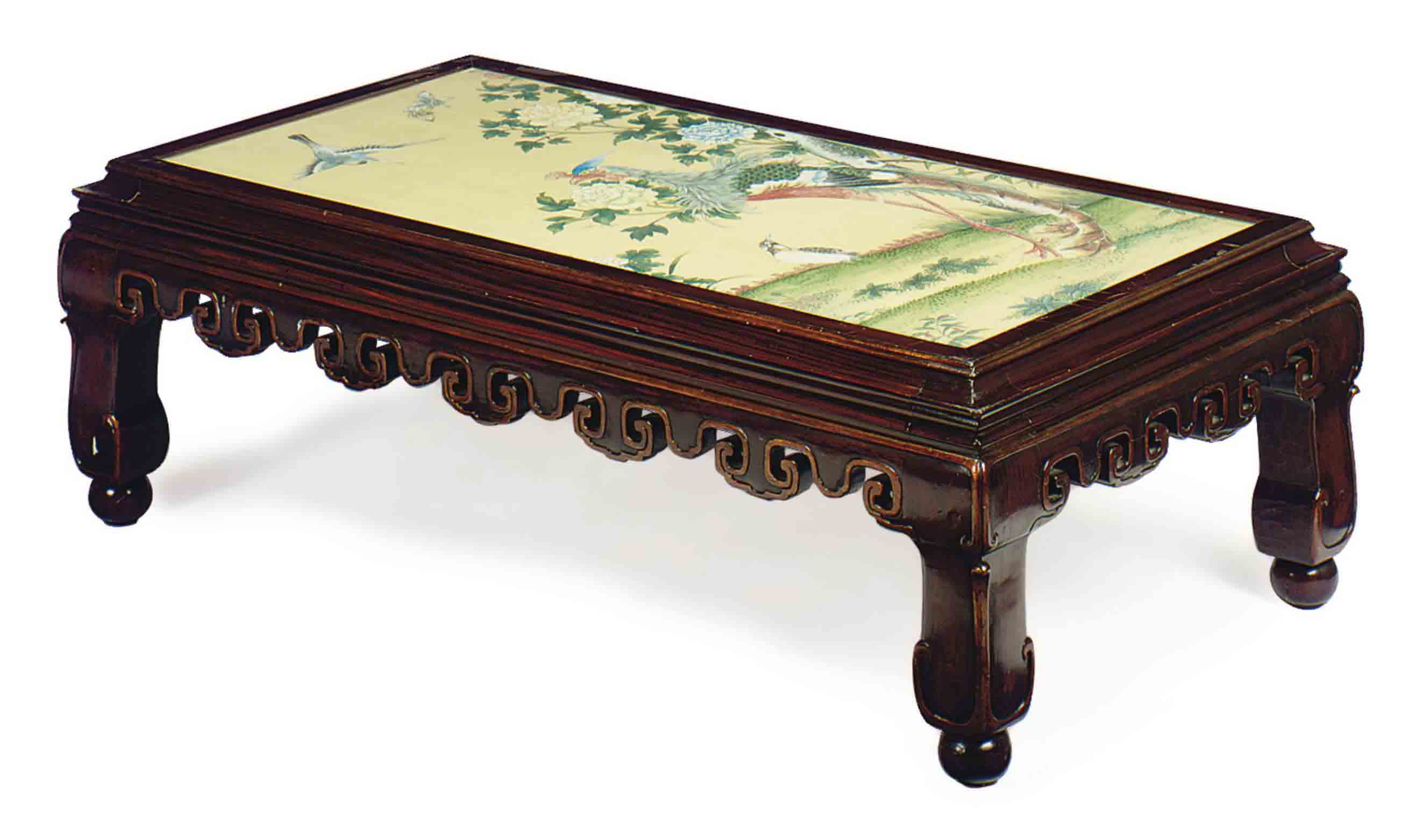 A CHINESE HONGMU LOW TABLE,