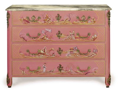 A CHINOISERIE DECORATED, PINK