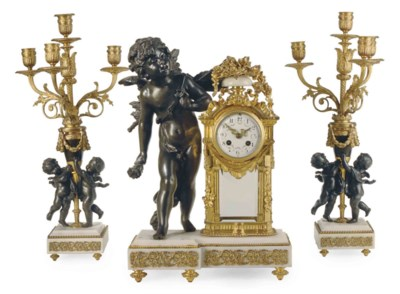 A PATINATED, GILT-METAL AND MA