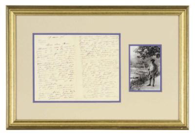 Monet, Claude. Autograph lette