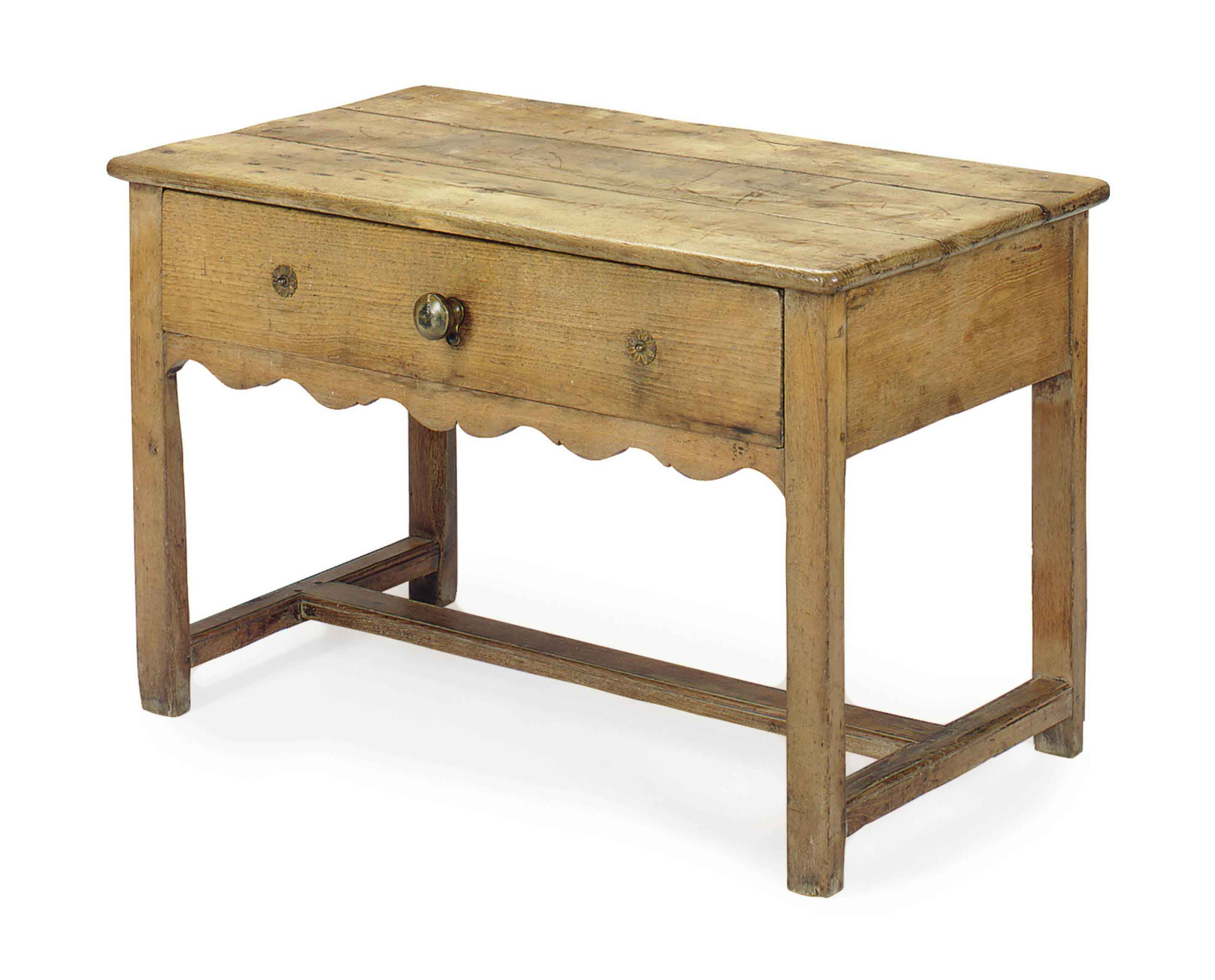 A FRENCH PROVINCIAL OAK SIDE TABLE,