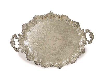 A WILLIAM IV SILVER TWO-HANDLE