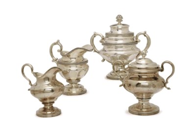 A GROUP OF AMERICAN SILVER TEA