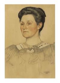 Portrait of a woman, bust-length