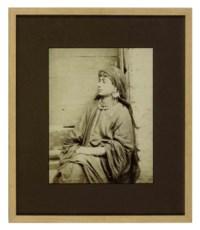 Jeune Femme Fellah; and three companion photographs of desert landscapes