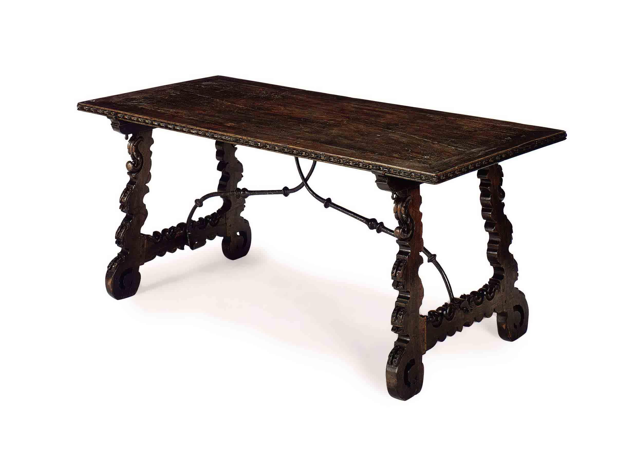 A CONTINENTAL OAK TAVERN TABLE