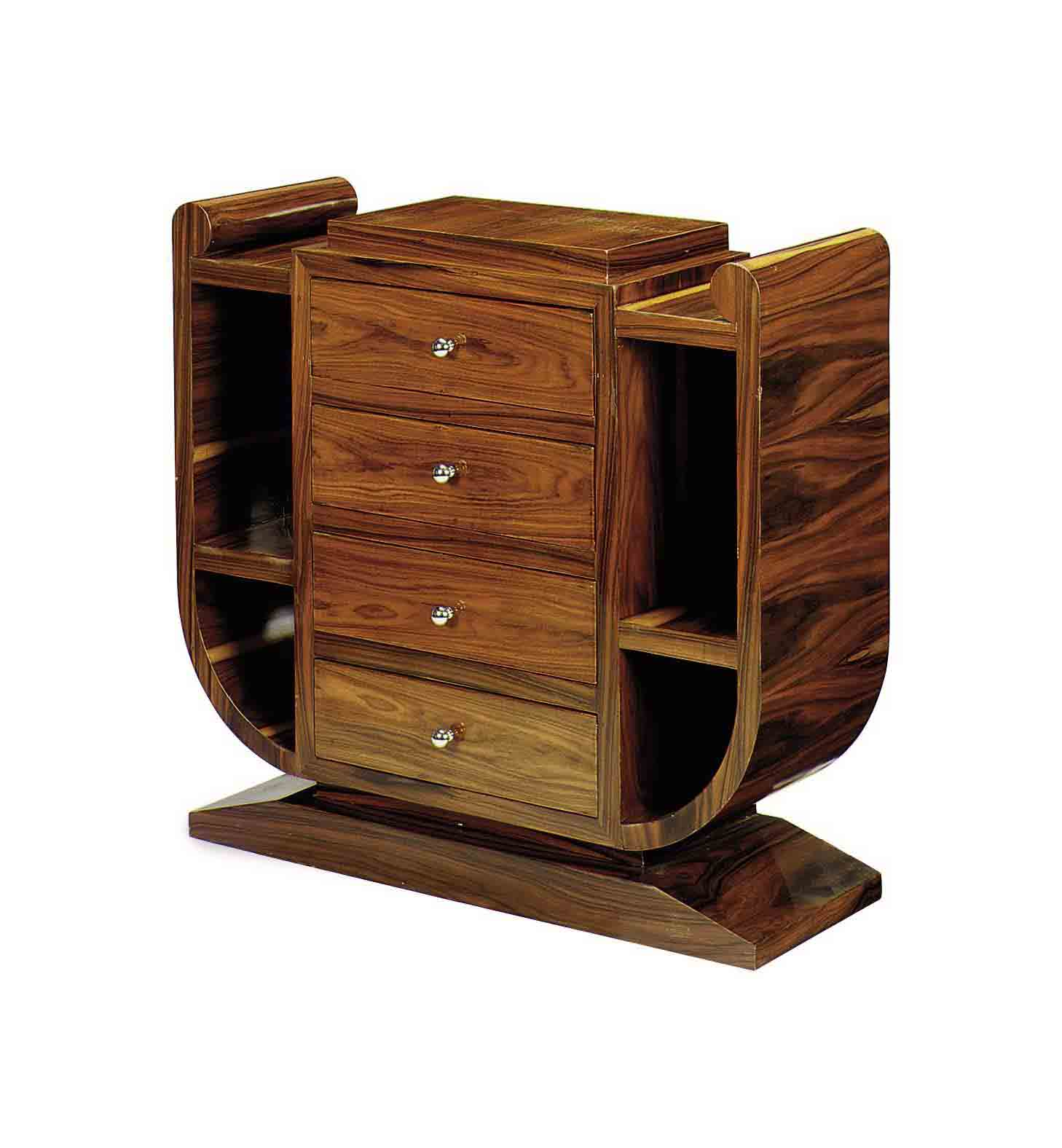 A PAIR OF MAHOGANY CHEST OF DR