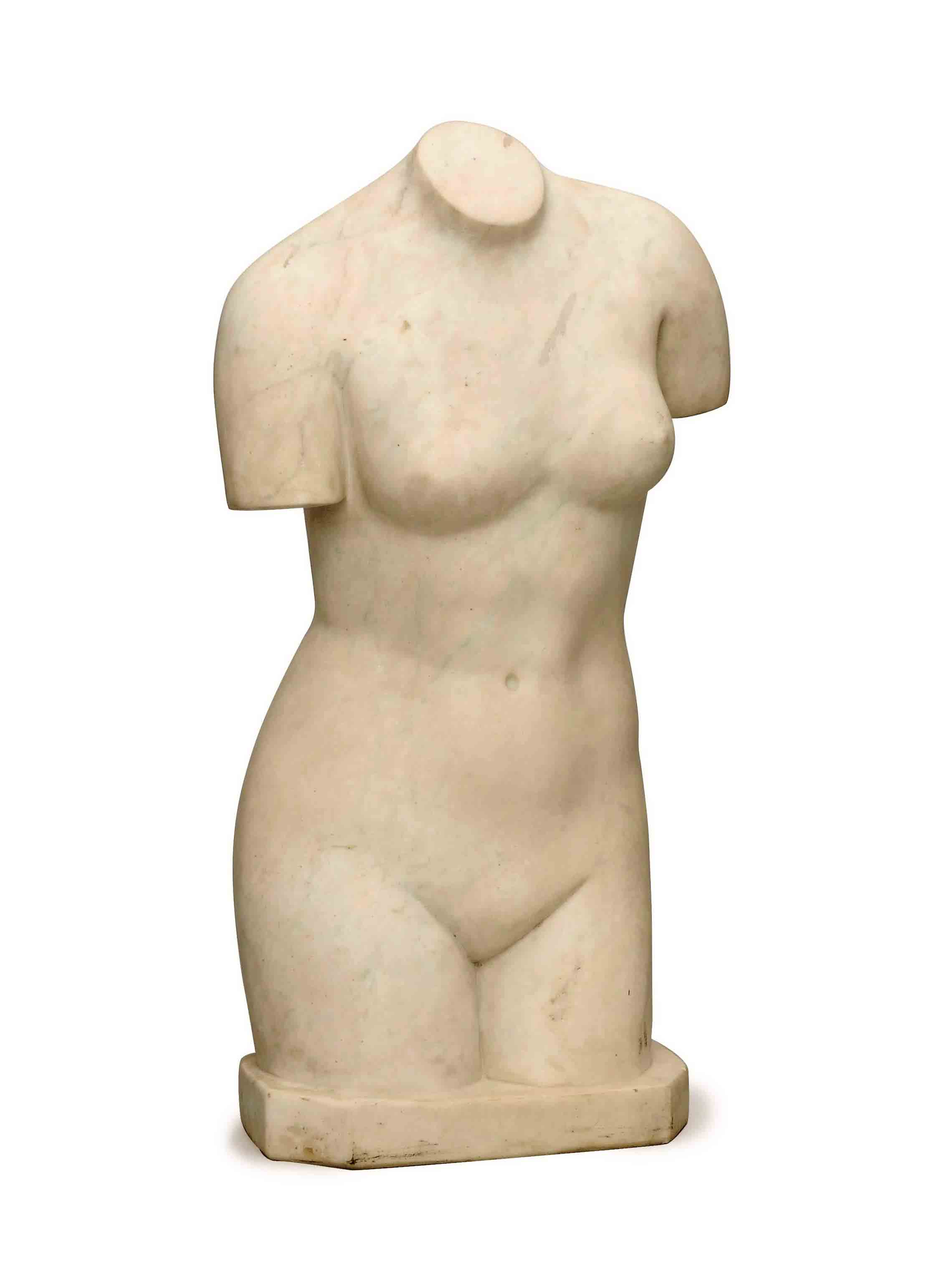 Asia Carrera Marble an italian carrera marble sculpture of a female torso