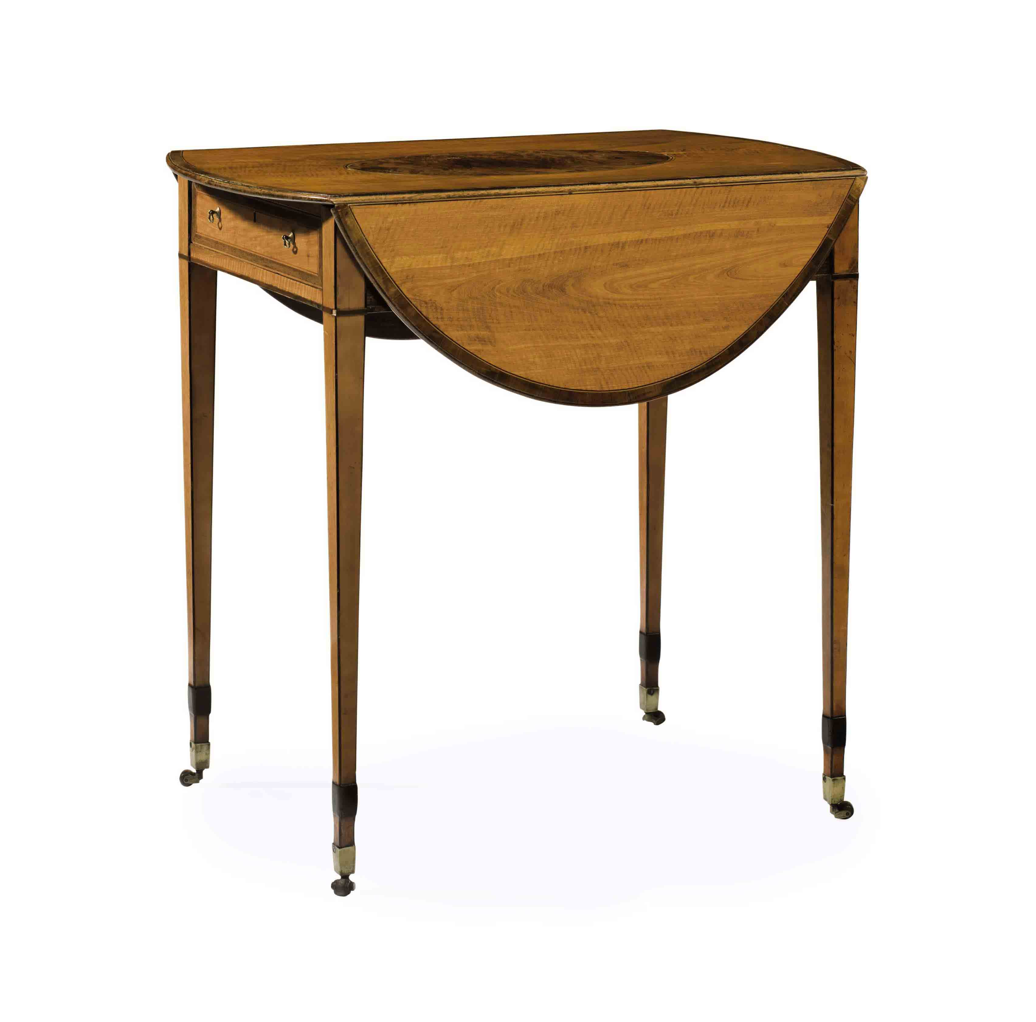 A GEORGE III SATINWOOD AND YEW