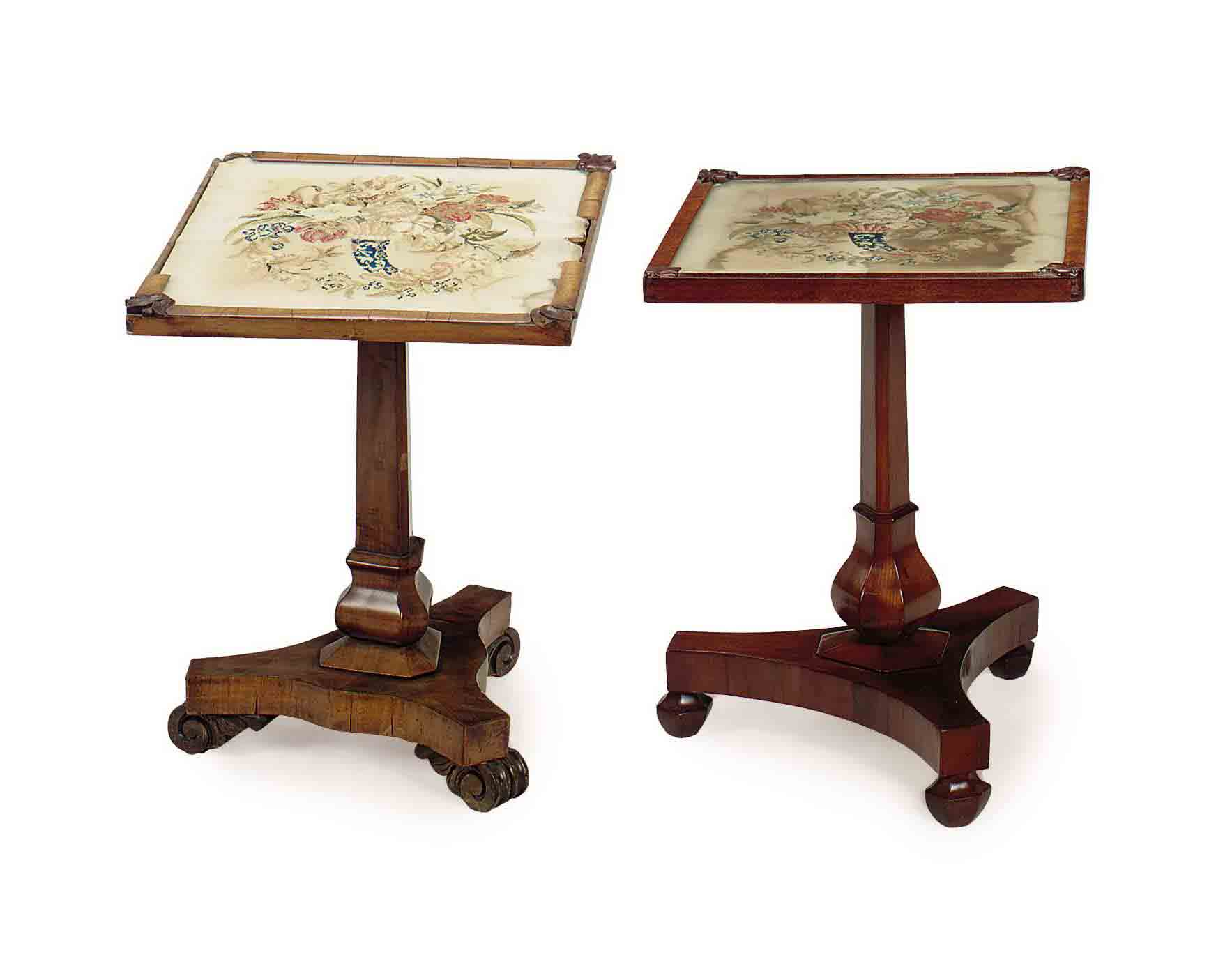 A MATCHED PAIR OF FRUITWOOD AN
