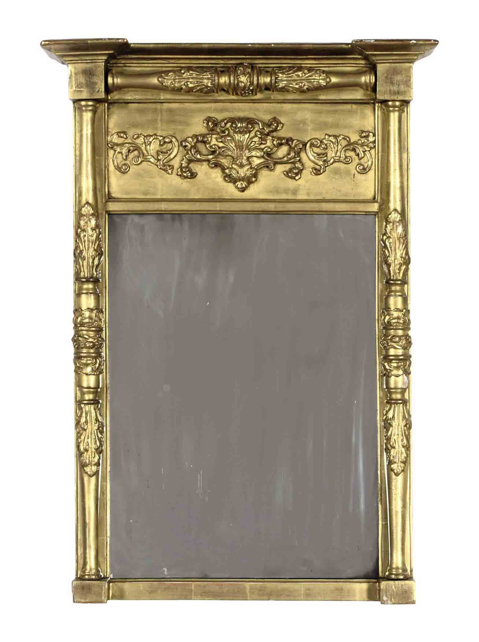 A REGENCY GILTWOOD MIRROR,