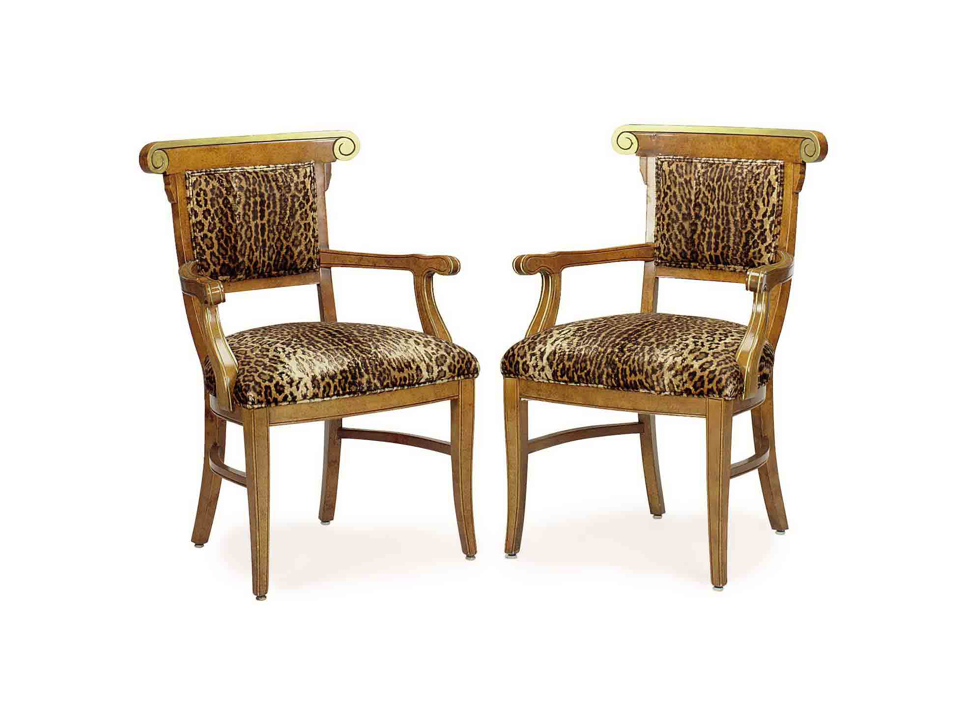 A PAIR OF PARCEL GILT FRUIWOOD