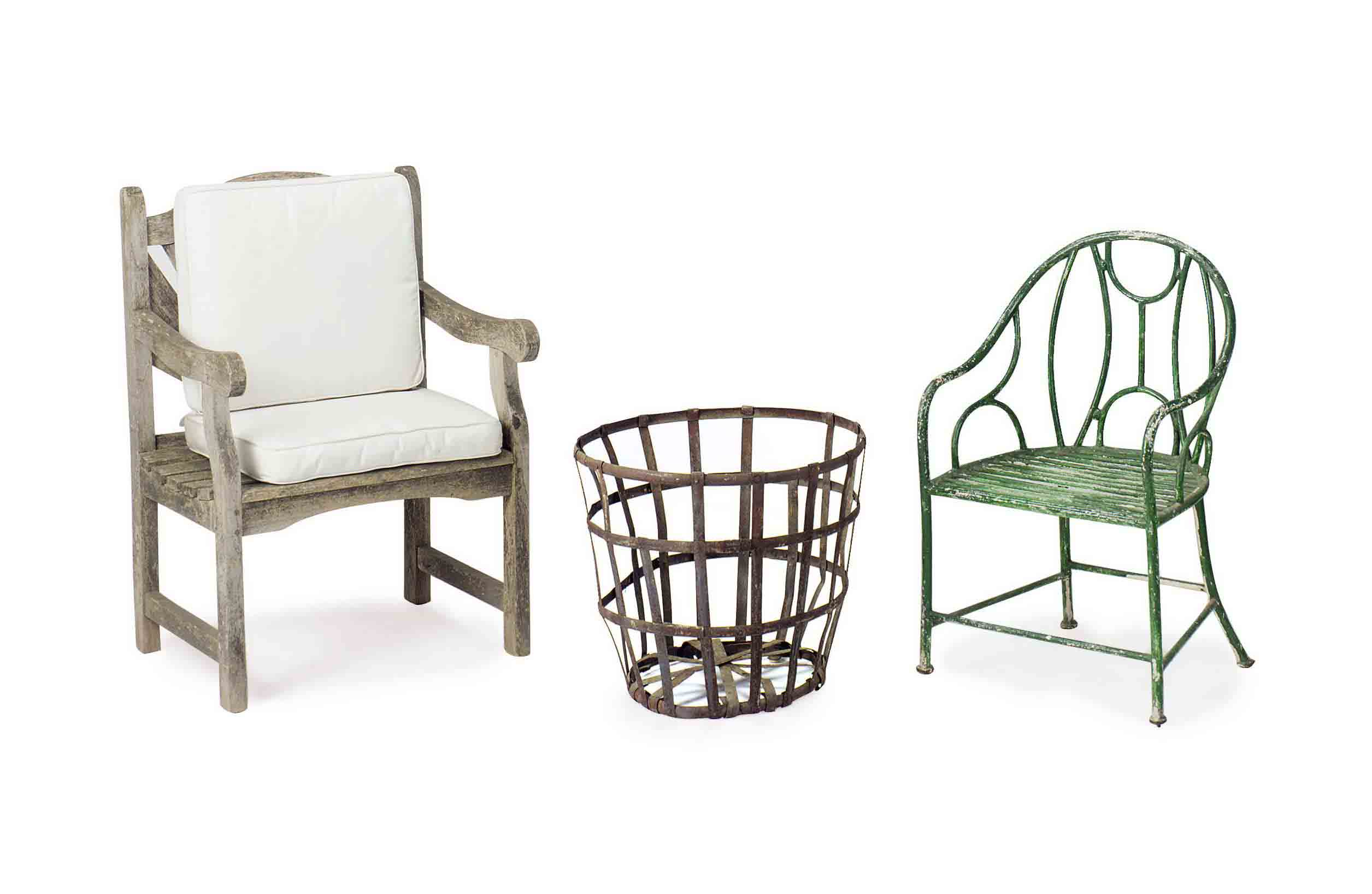 TWO GARDEN CHAIRS,