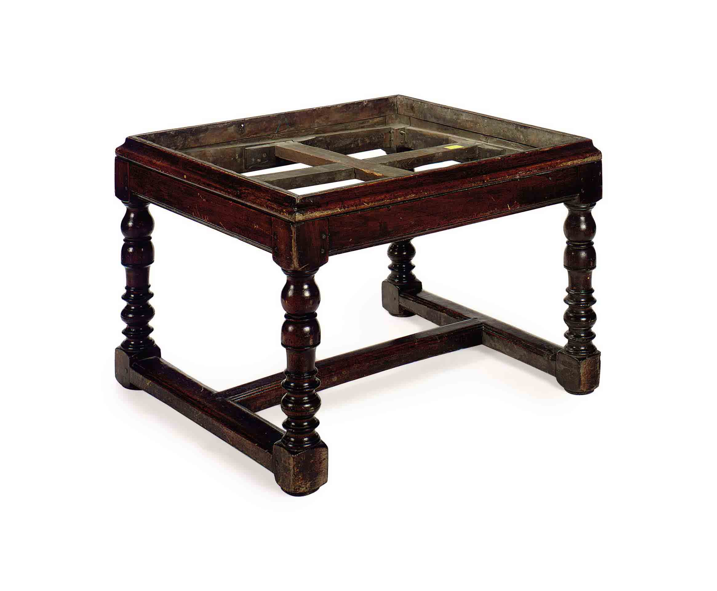 A STAINED HARDWOOD LOW TABLE B