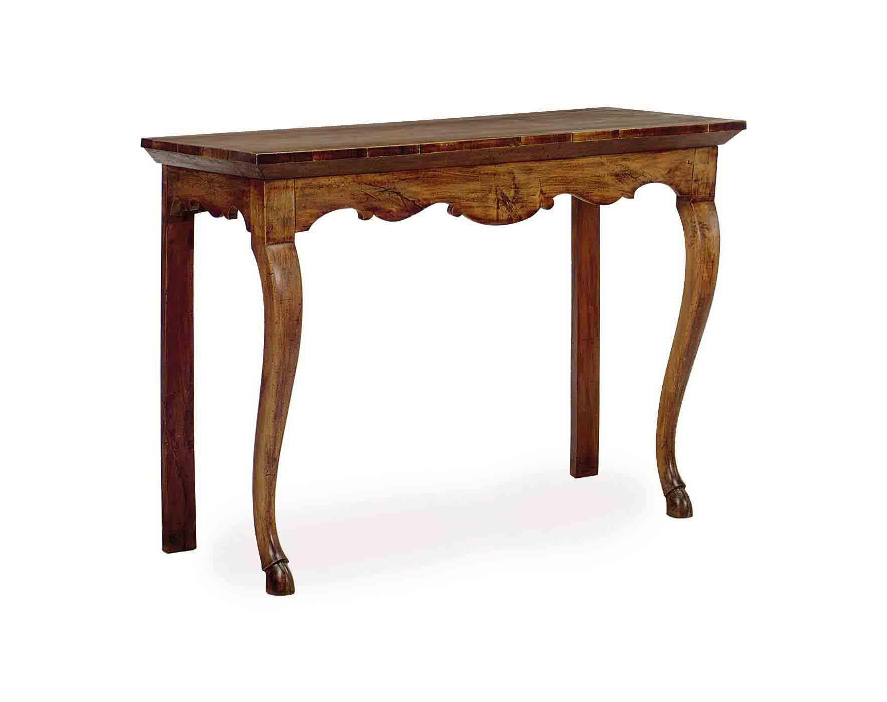A CONTINENTAL WALNUT SIDE TABL
