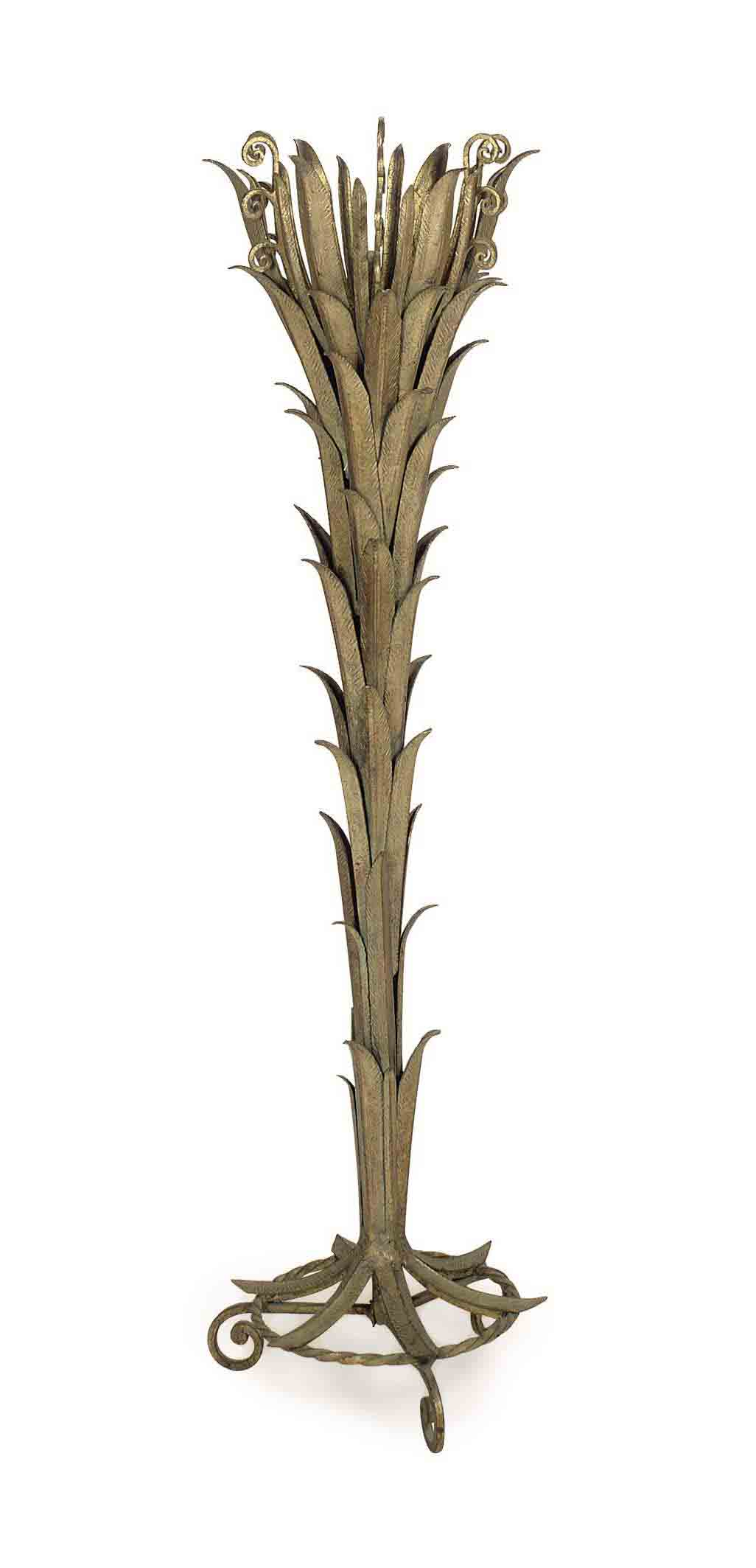 A FRENCH GILT-METAL PALM FROND