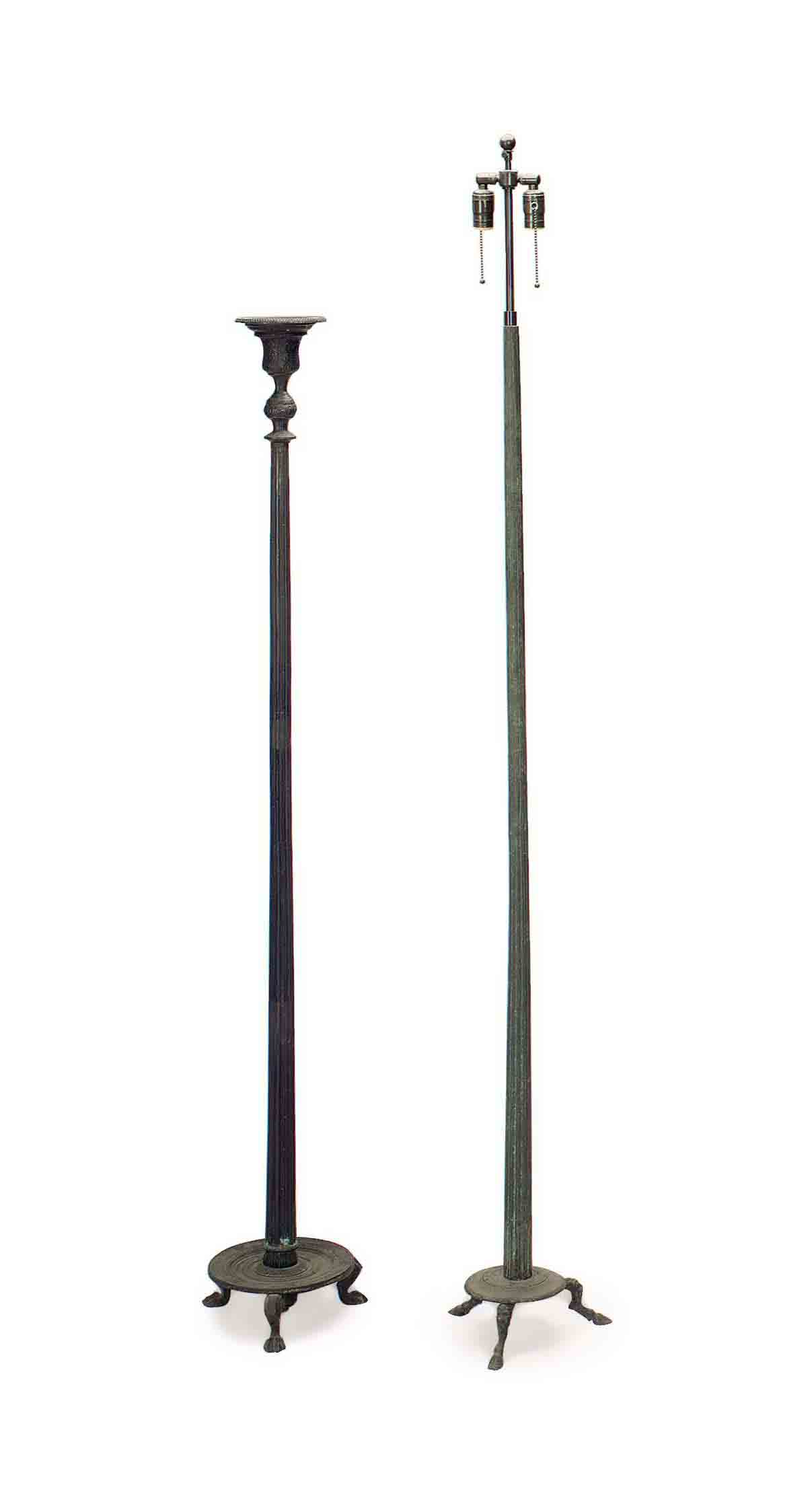 TWO ITALIAN PATINATED-BRONZE T