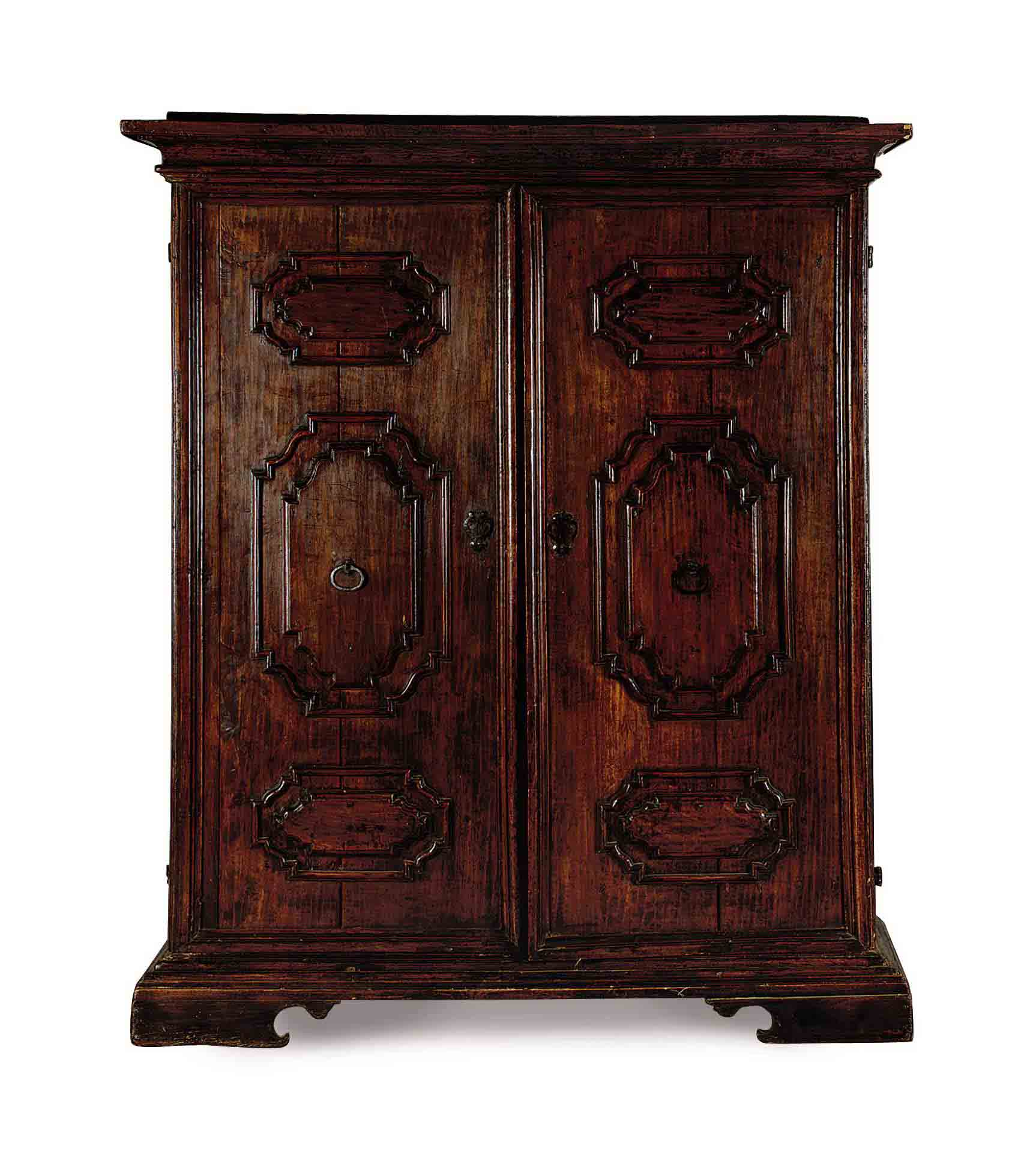 AN ITALIAN WALNUT CUPBOARD,