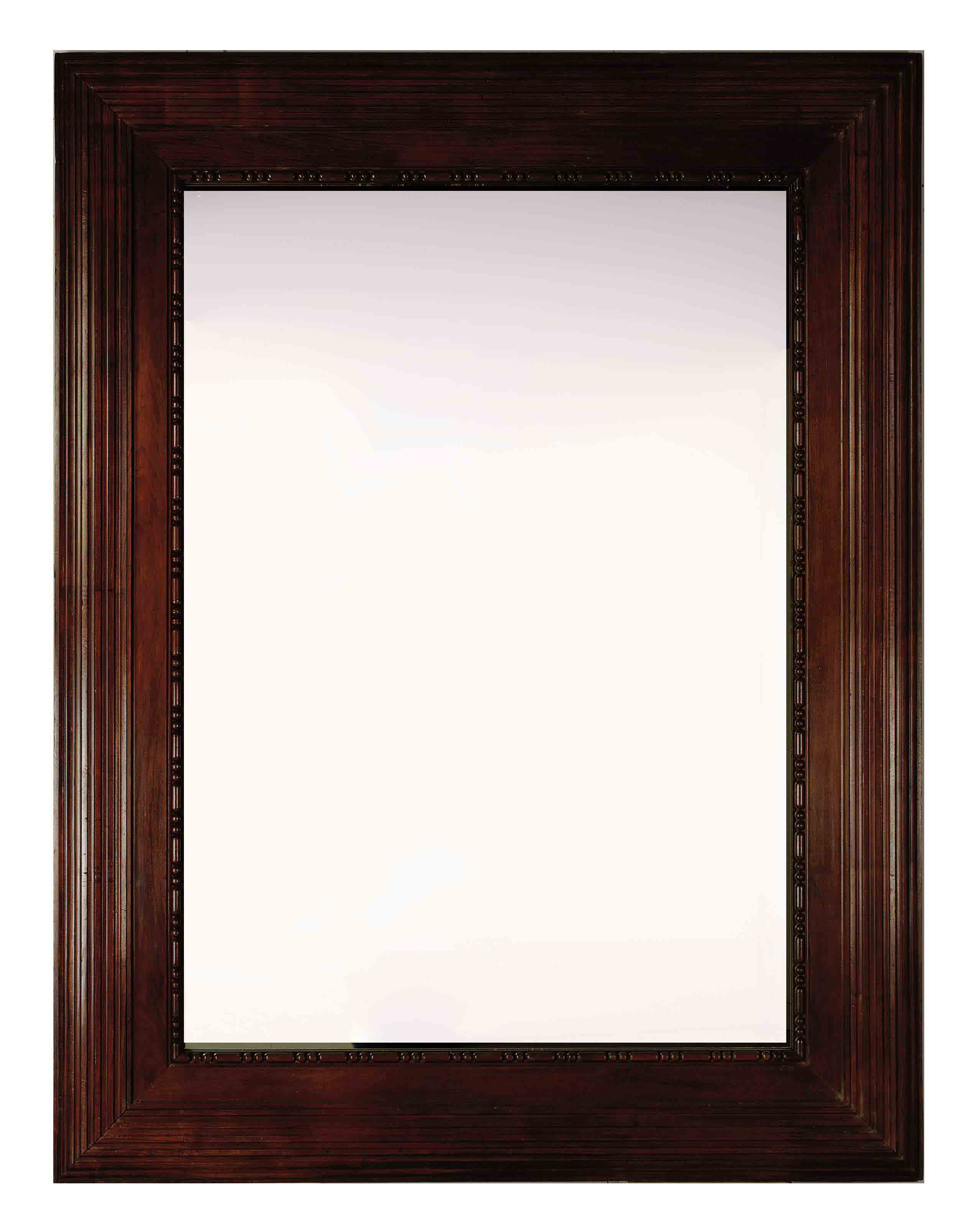 A LARGE FRENCH MAHOGANY MIRROR