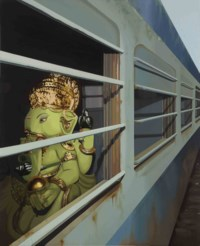 Untitled - I (Ganesha on a Train)