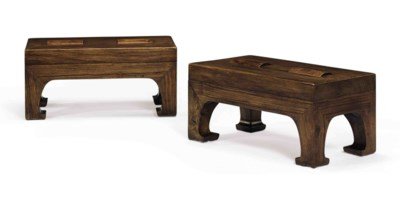 A PAIR OF HUANGHUALI FOOT REST
