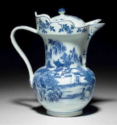 AN UNUSUAL BLUE AND WHITE 'MON