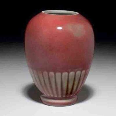 A PEACHBLOOM-GLAZED OVOID CHRY