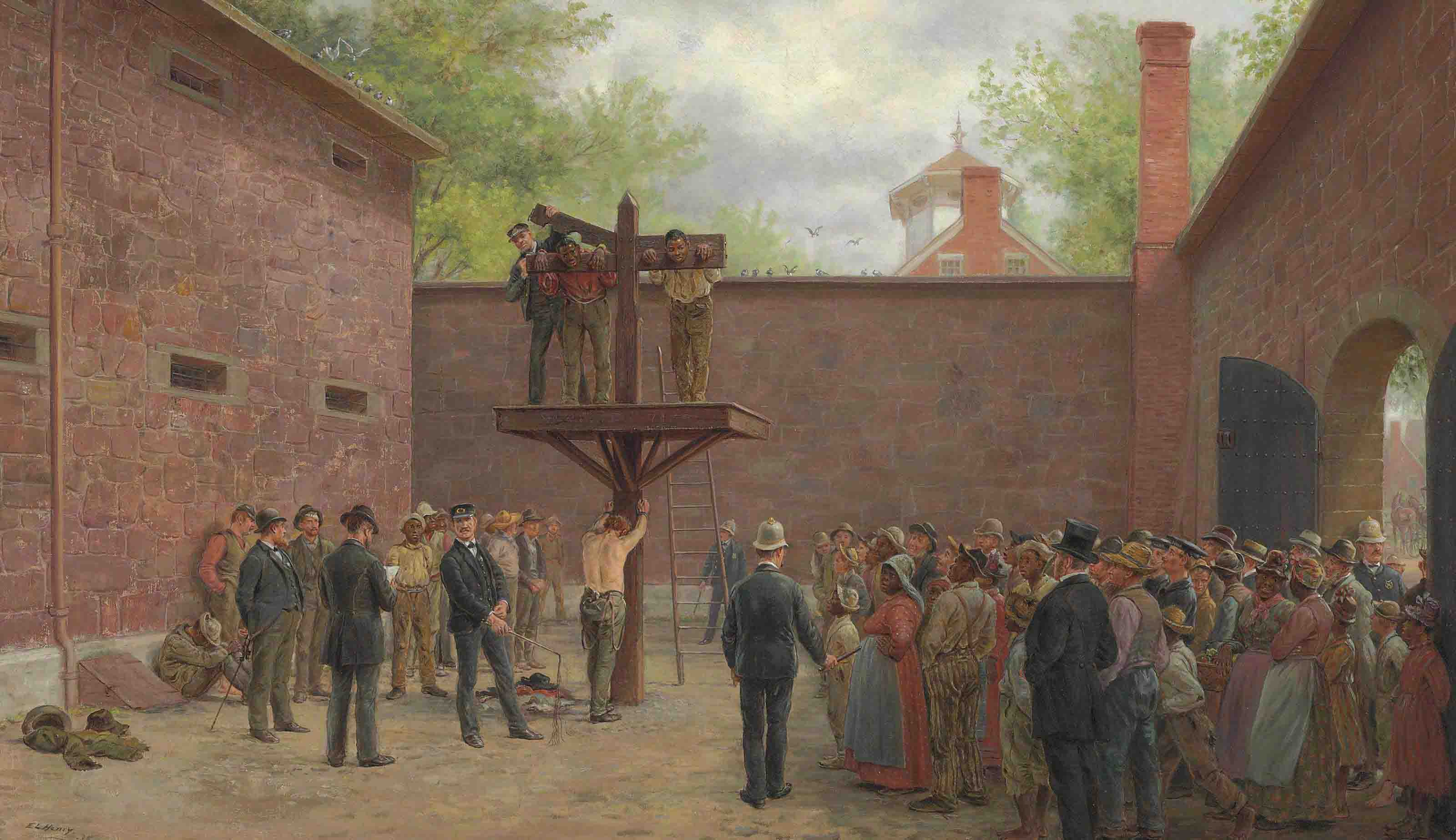 The Pillory and Whipping Post, New Castle, Delaware