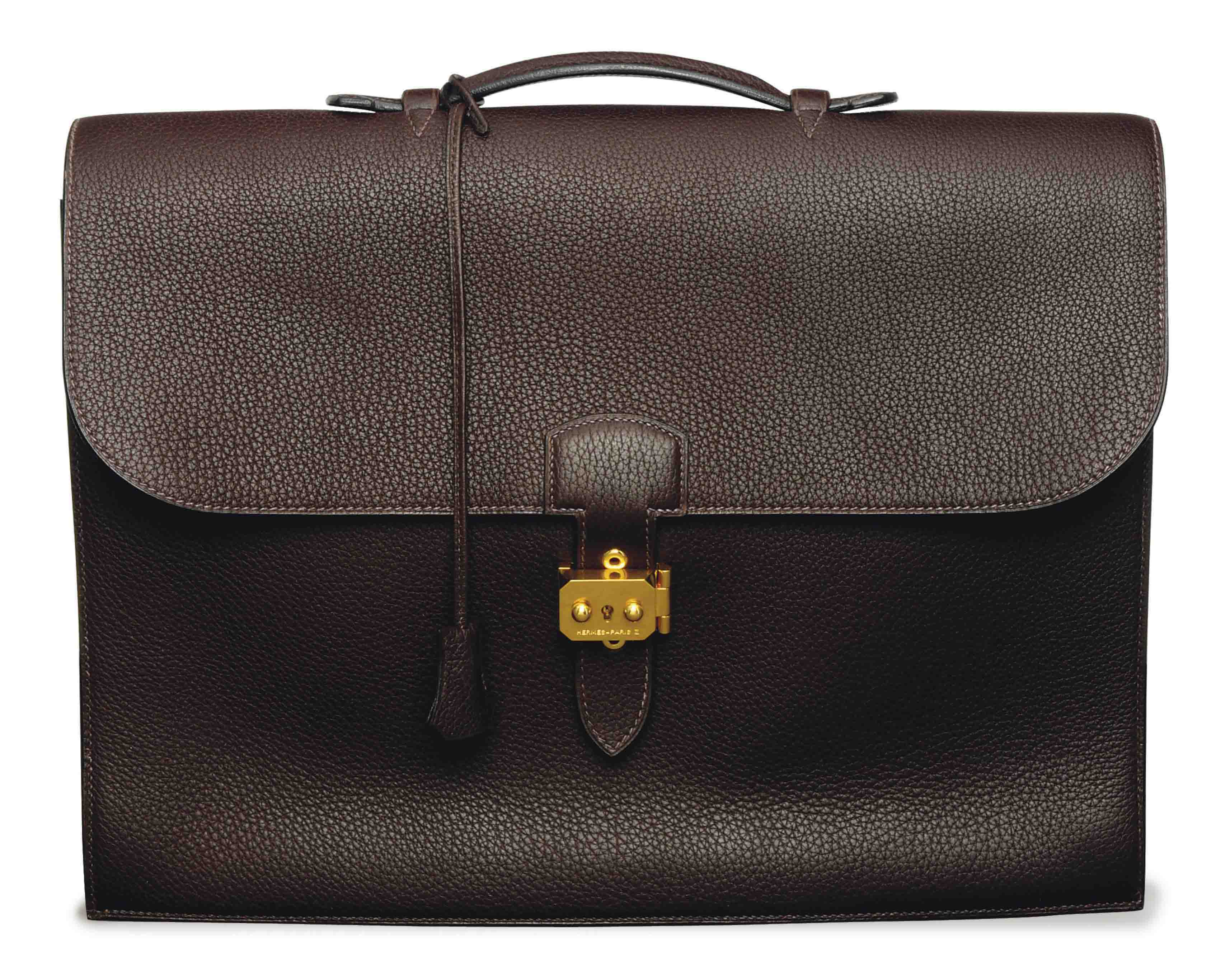 AN HERMES LEATHER BRIEFCASE,
