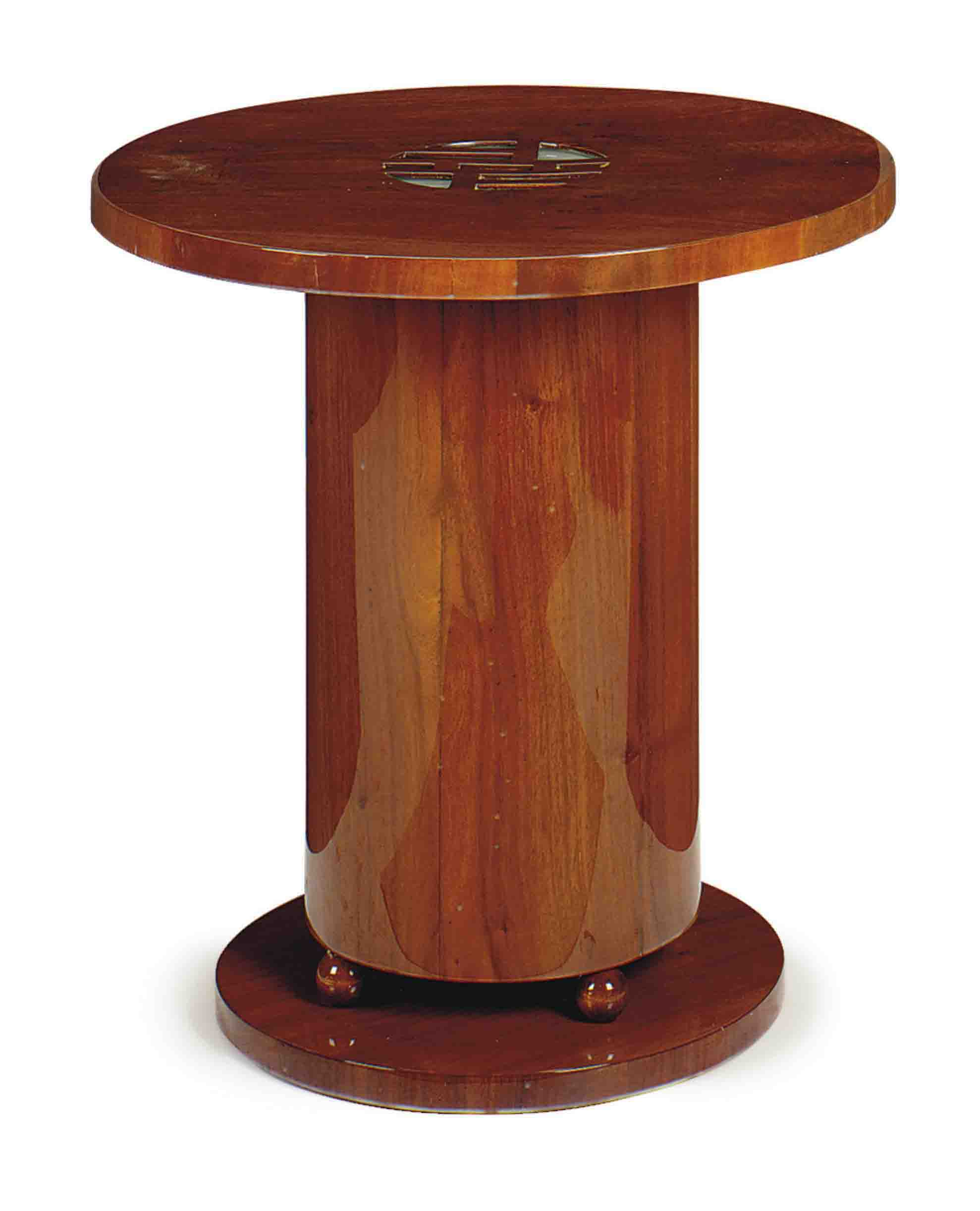 A FRENCH ILLUMINATED CIRCULAR SIDE TABLE,