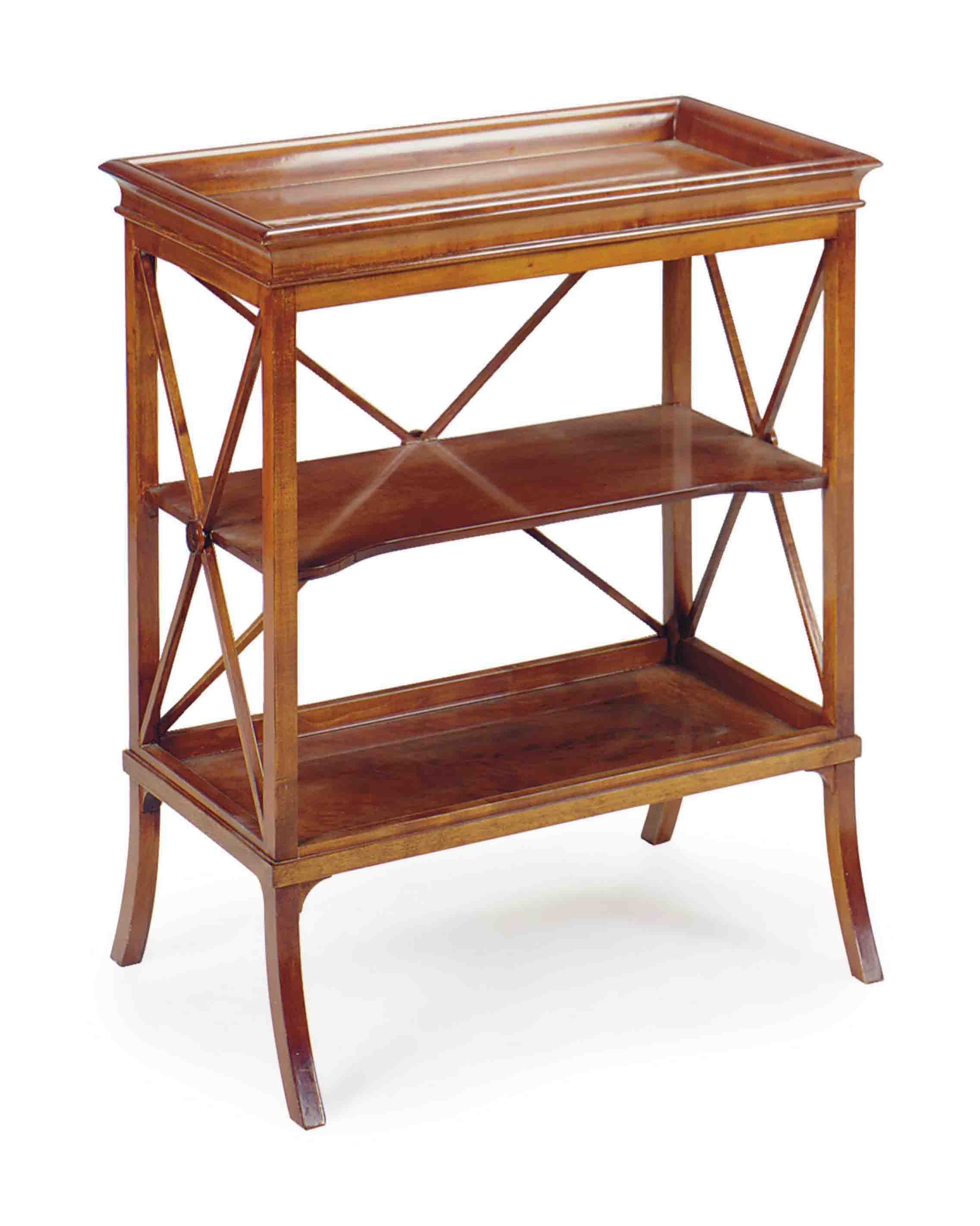 A CHEERYWOOD BOOKCASE SIDE TABLE,