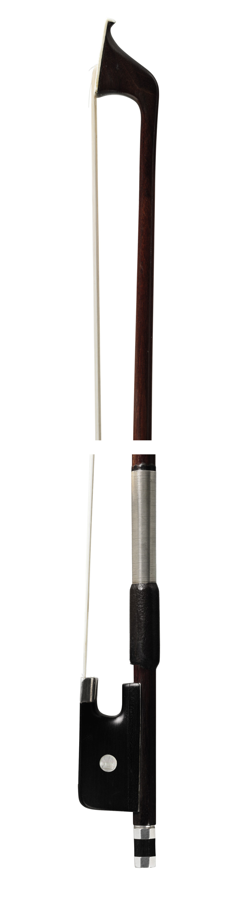 A SILVER-MOUNTED VIOLONCELLO BOW