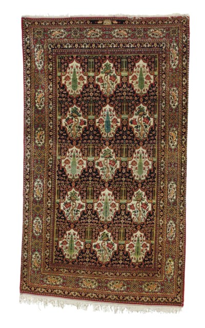 A Pair Of Isfahan Rugs Central Persia Late 19th Century