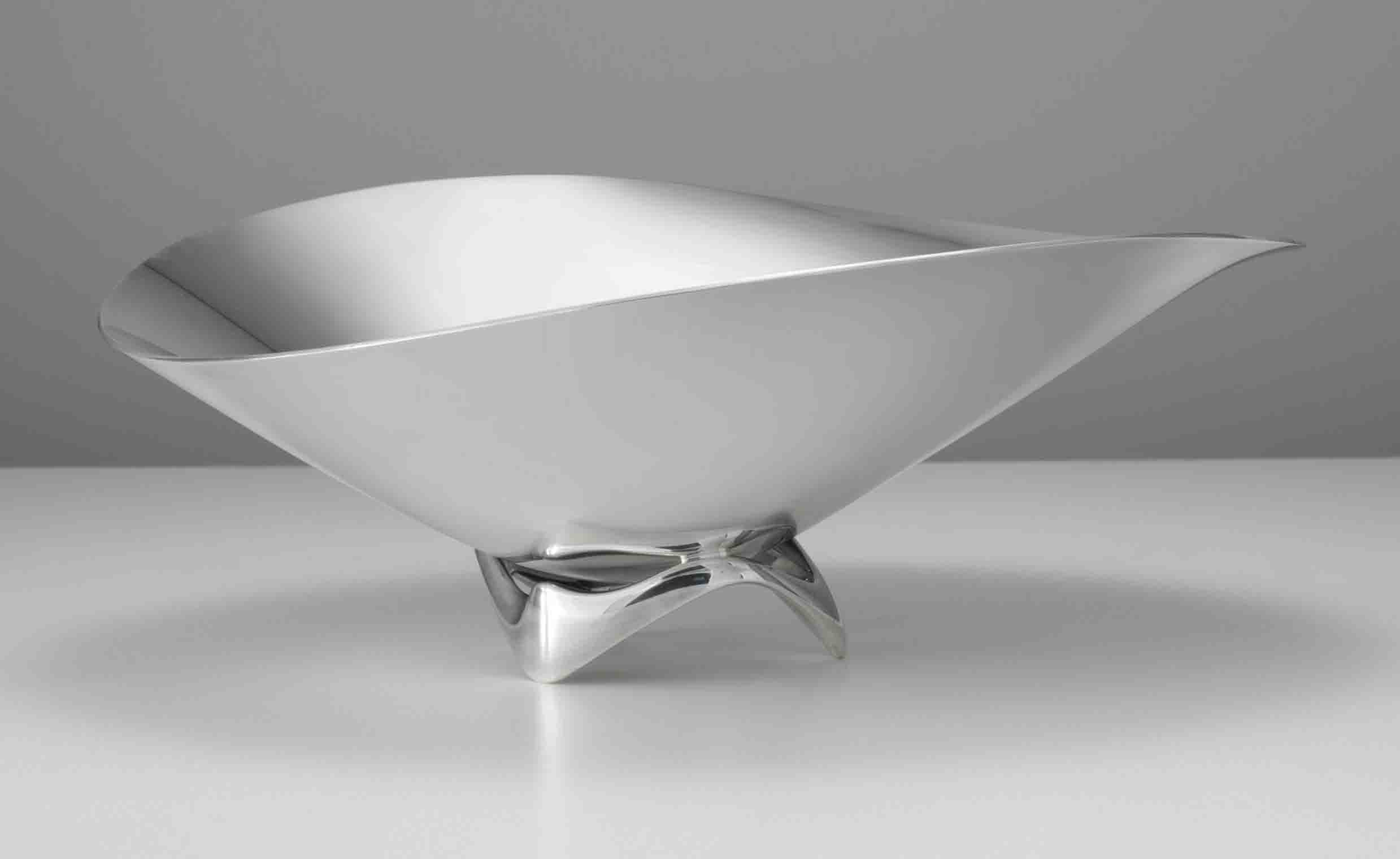 A DANISH SILVER BOWL, DESIGNED BY HENNING KOPPEL