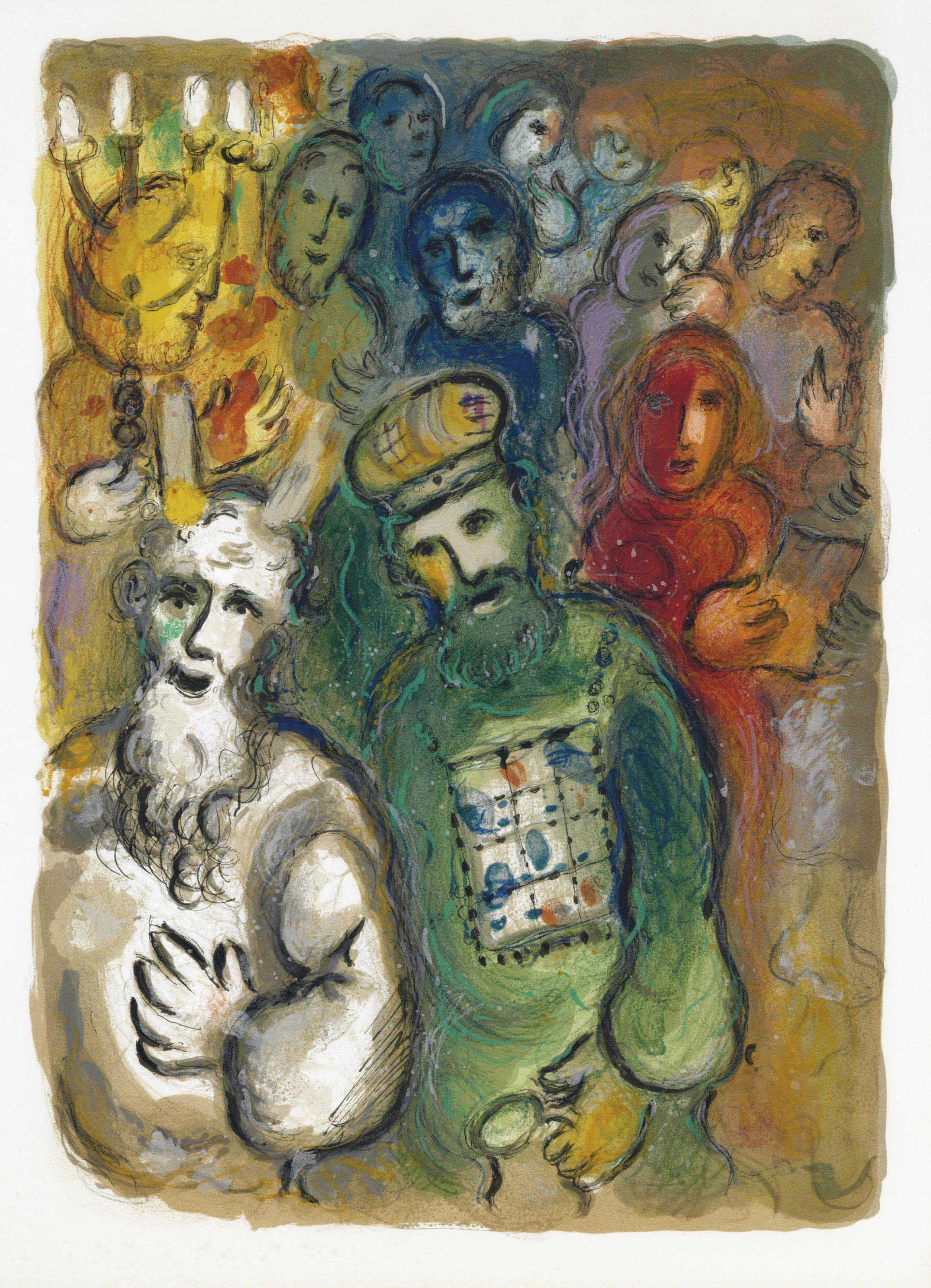 marc chagall   the story of exodus   leon amiel  paris and