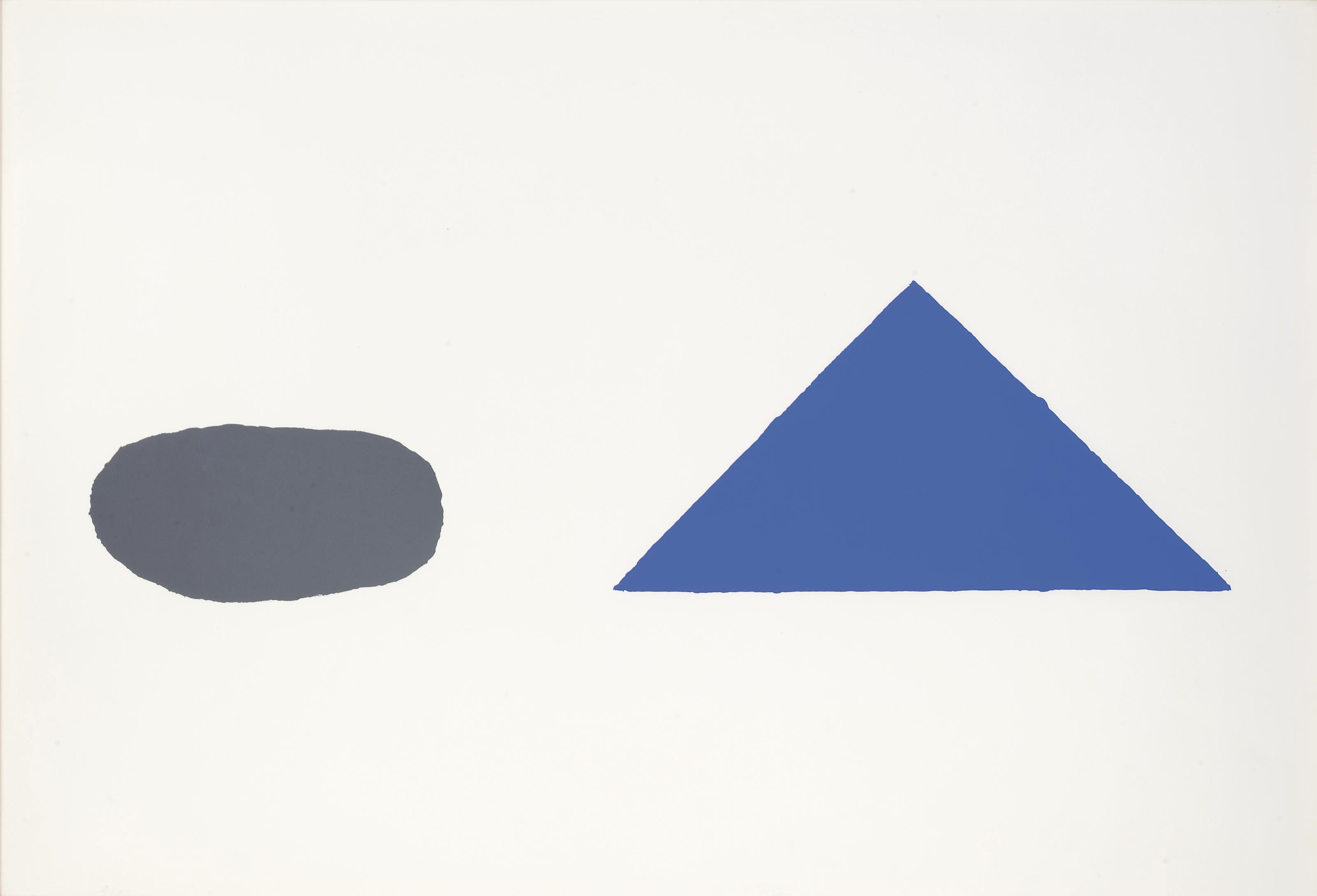 Graue Scheibe, blaues Dreieck (Jahn 5)