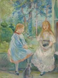 Fillettes à la fenêtre (Jeanne et Edma Bodeau)