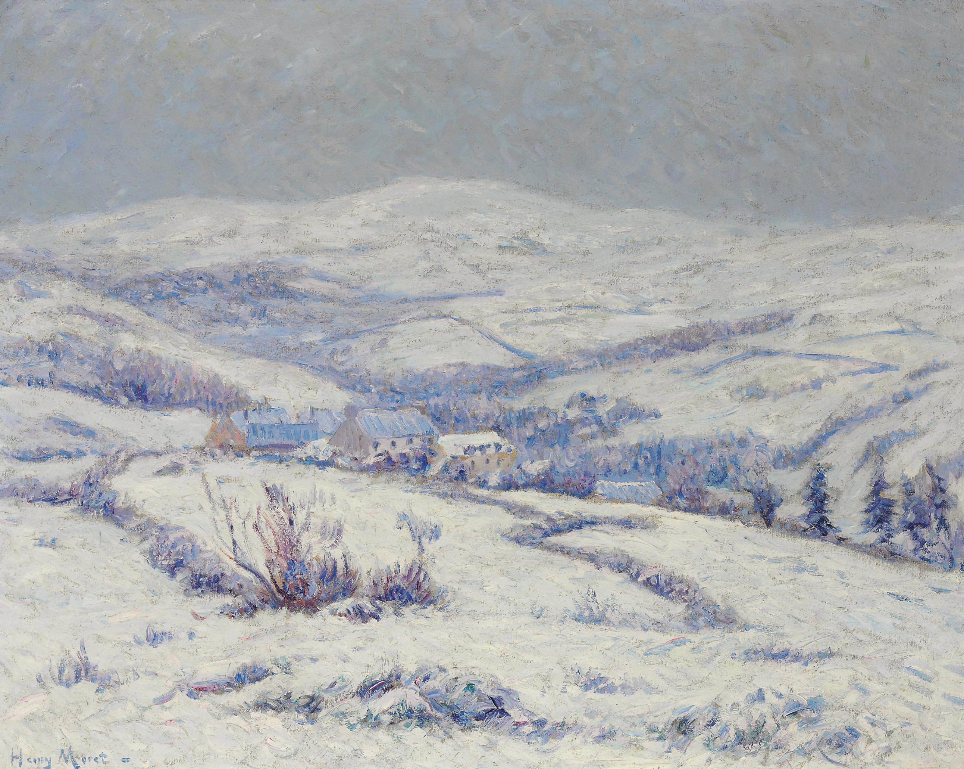 Les monts d'arrée sous la neige