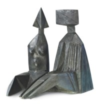 Two Seated Figures I