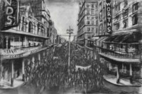 "Drawing from ""Stereoscope (Street Procession)"""
