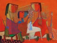 Three Women at Table