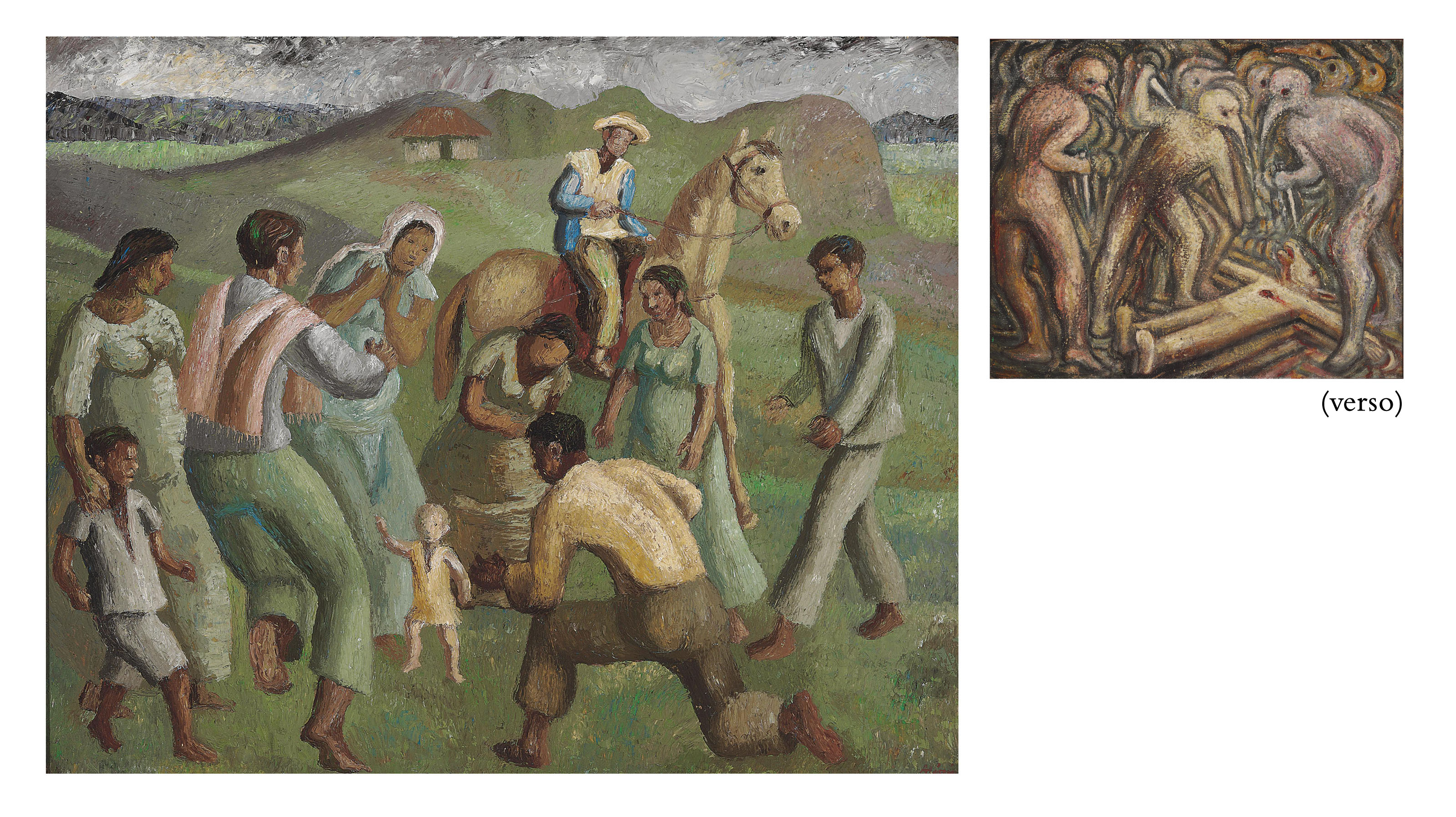 Ronda con niño (double-sided painting)