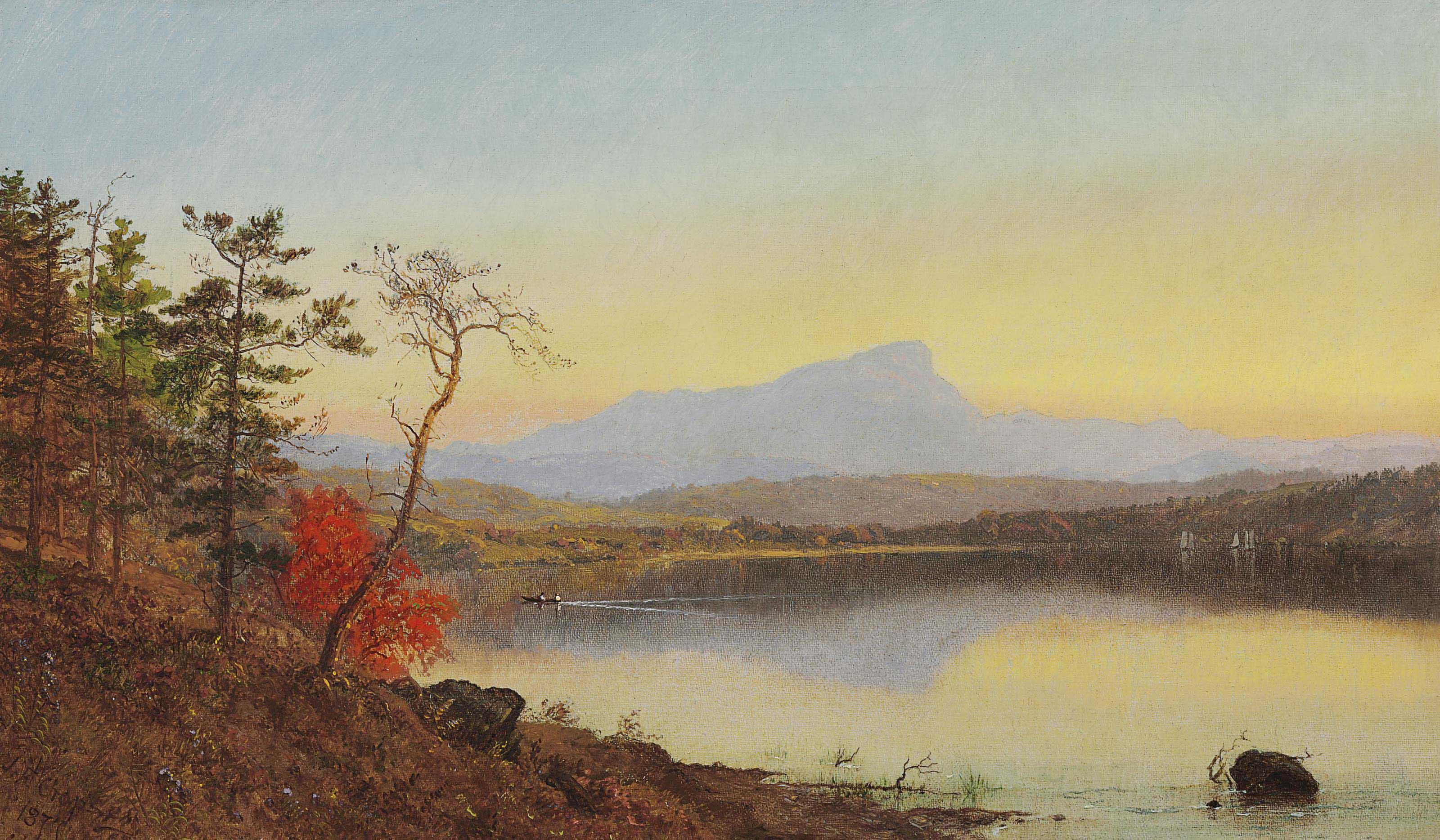 Sunset, Camel's Hump, Lake Champlain