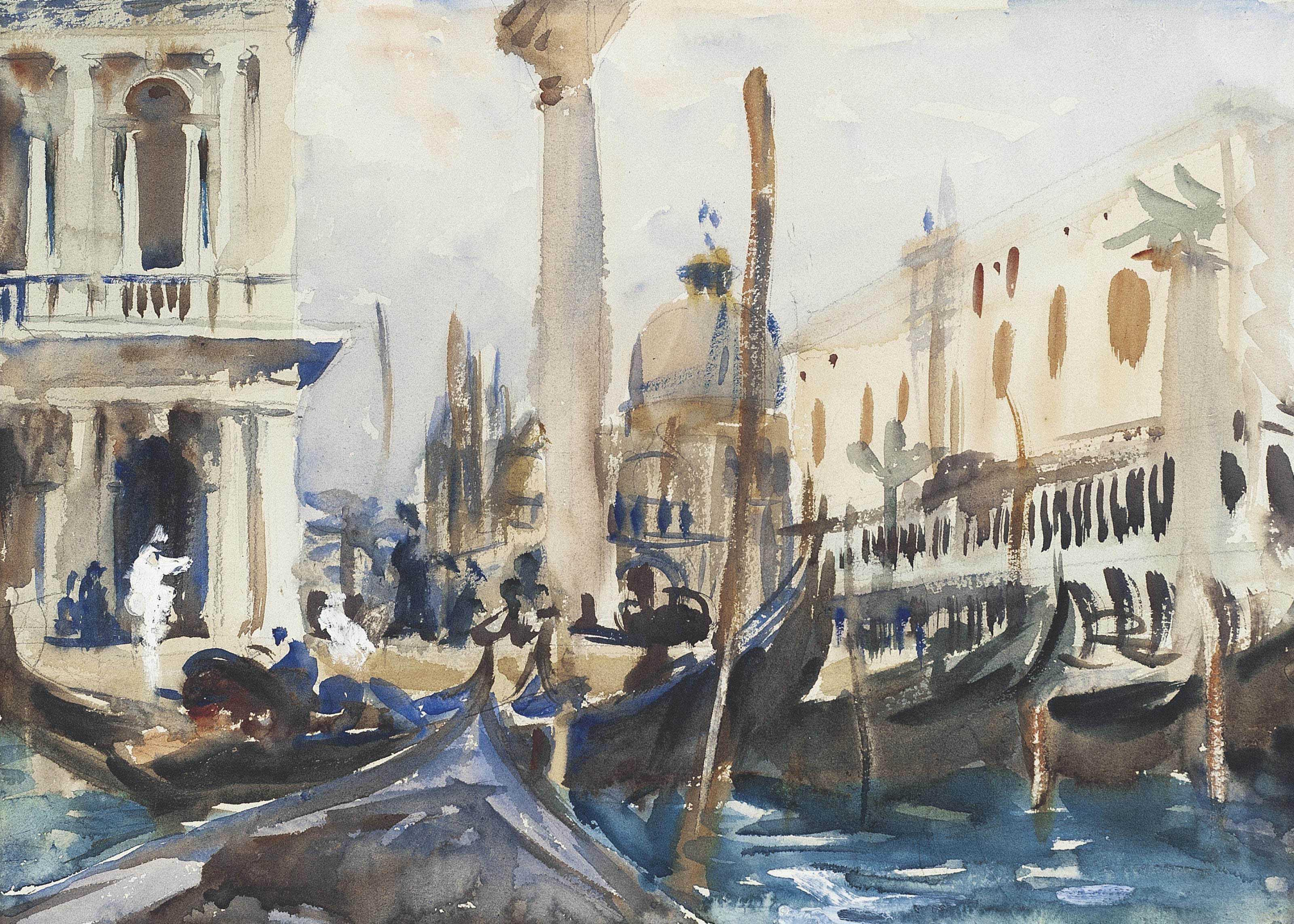 The Piazzetta with Gondolas