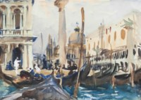 The Piazzetta with Gondolas